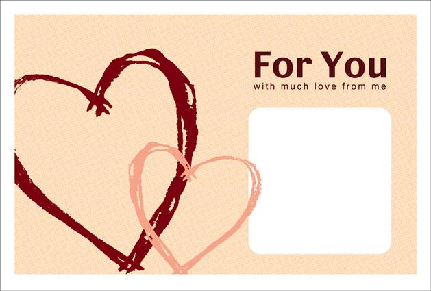 かわいいカードのテンプレート ... : ありがとう カード テンプレート 無料 : カード